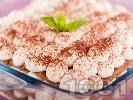 Рецепта Лесна торта с извара и какао